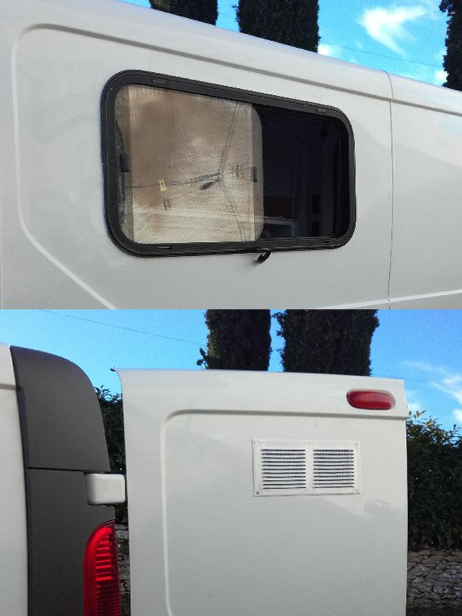 Pose de la fenêtre et des grilles d'aération
