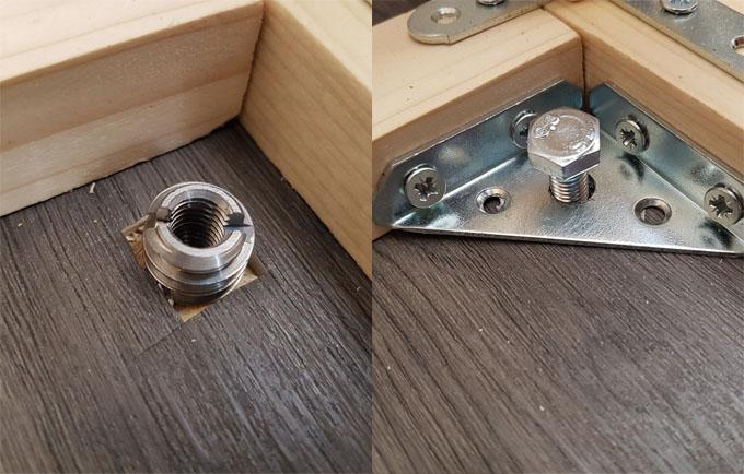 Système de fixation au sol des meubles